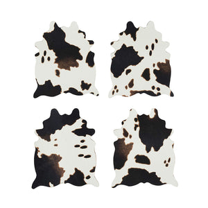 Cowhide Coasters (set of 4) - Wanderlustre