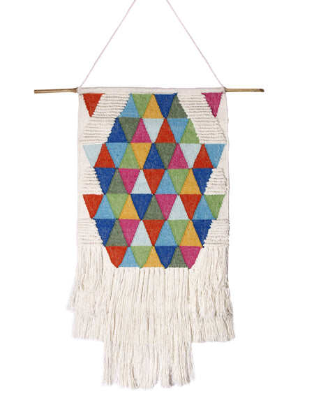 Casa Amarosa - Wall decor, Multi Triangle- 25 x 34 Inches