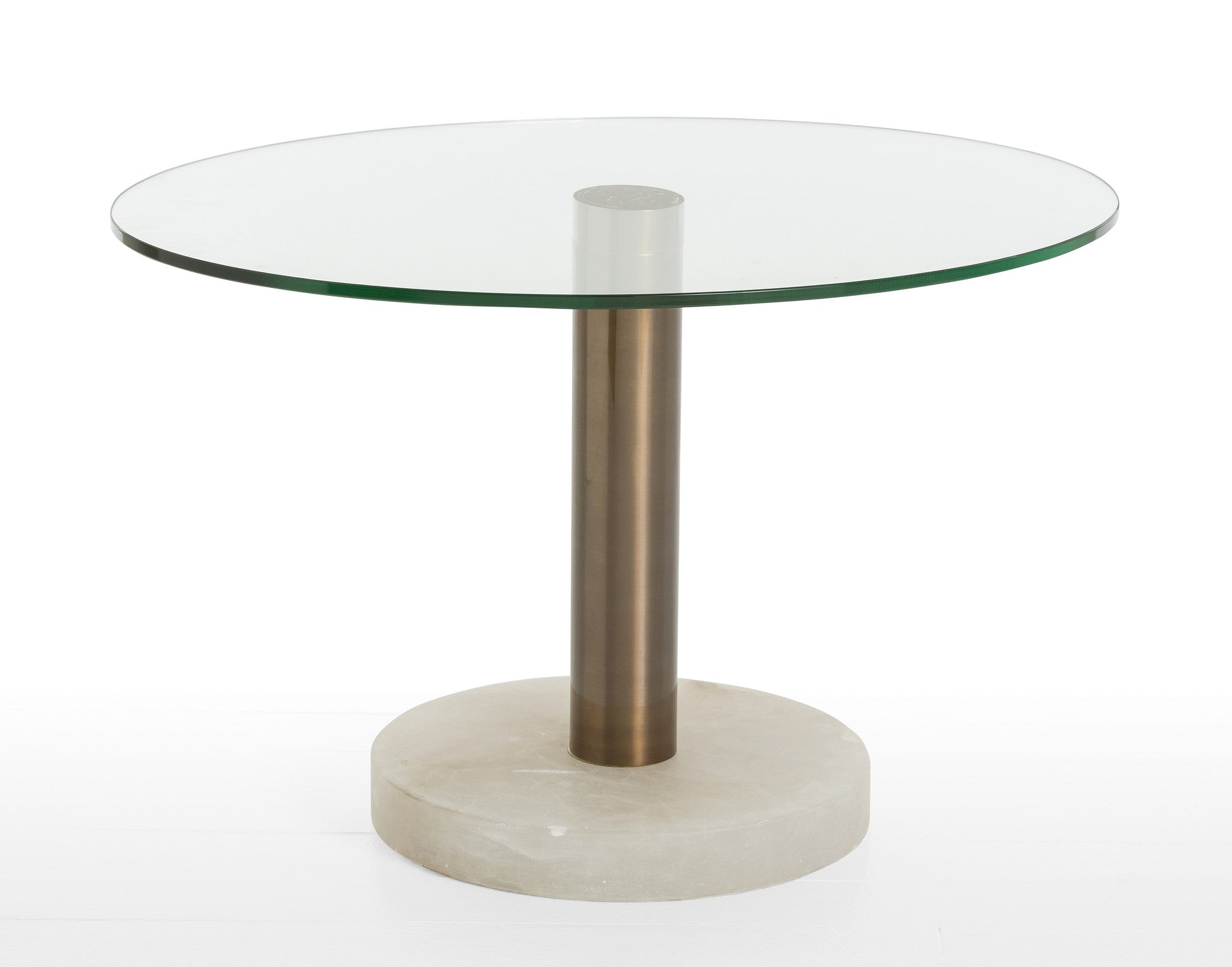 Arteriors Marble, Glass and Brass Side Table - Wanderlustre