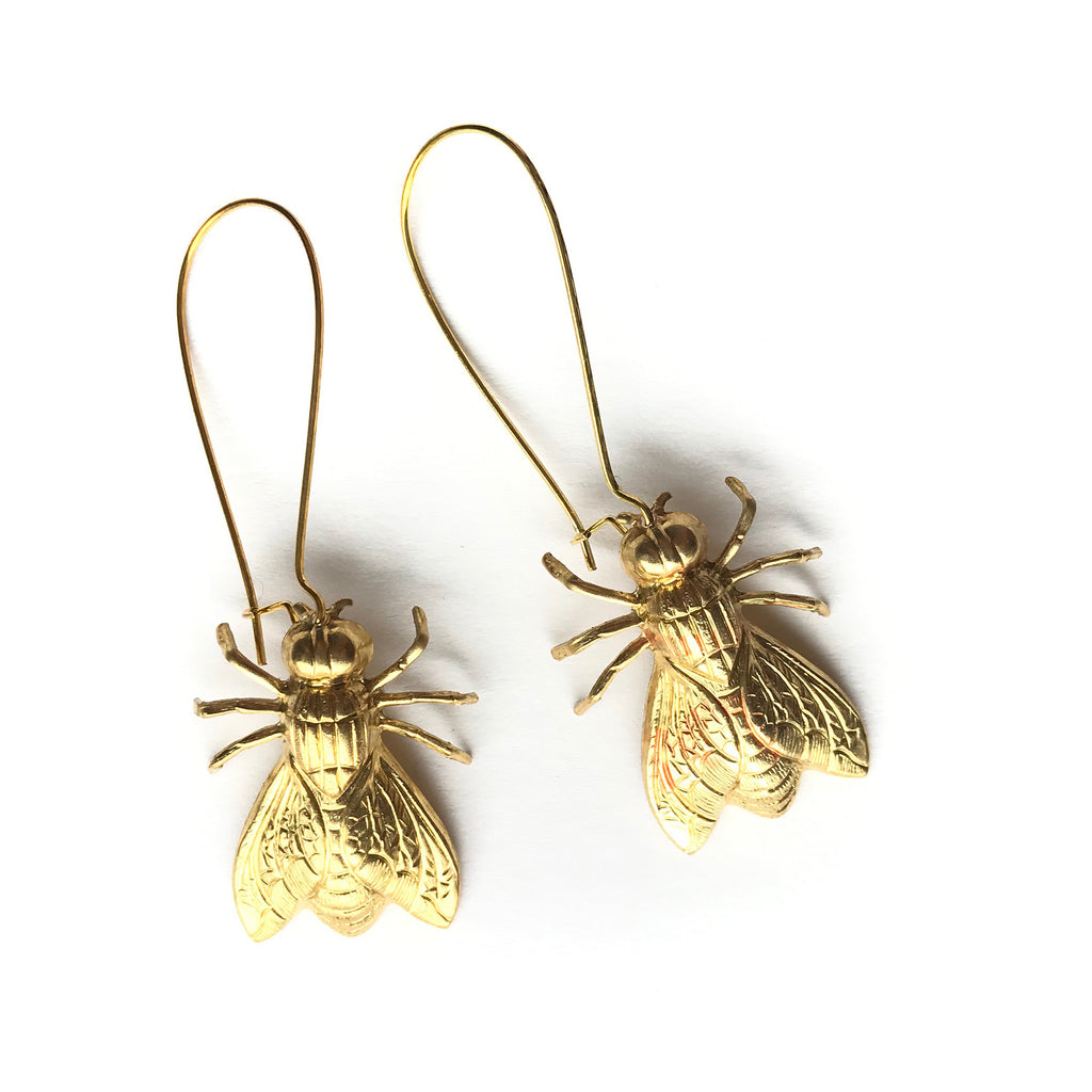 Valentine Viannay - Brass Bees Earrings - Wanderlustre