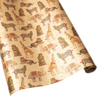 Load image into Gallery viewer, Wild Christmas Gold Foil Gift Wrapping Paper