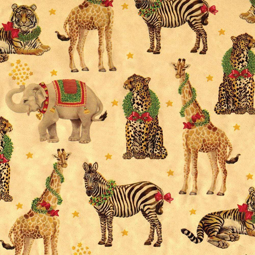 Wild Christmas Gold Foil Gift Wrapping Paper