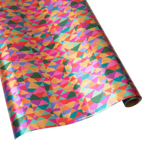 Shimmer Gift Wrapping Paper in Silver Foil