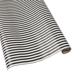 Load image into Gallery viewer, Club Stripe Reversible Gift Wrapping Paper in Black and Pearl