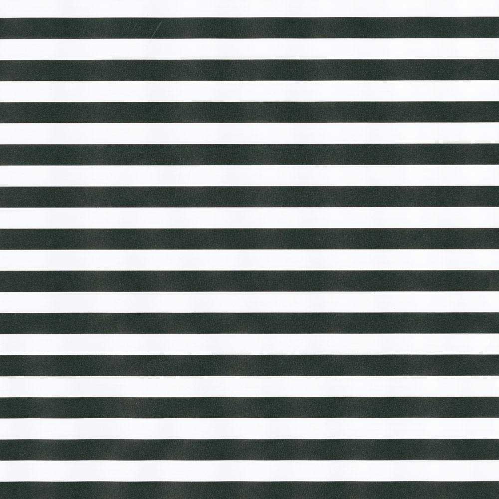 Club Stripe Reversible Gift Wrapping Paper in Black and Pearl