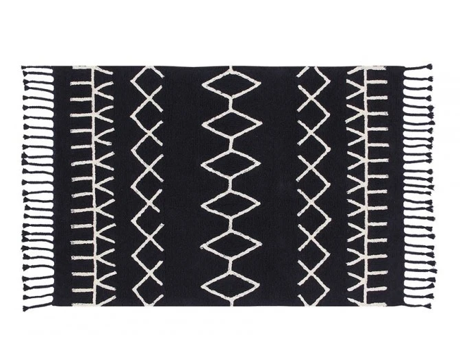 Bereber Black Washable Rug - Wanderlustre