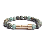 Load image into Gallery viewer, Wishbeads African Turquoise Bracelet - Positivity + Purpose - Wanderlustre
