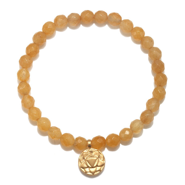 Solar Plexus Chakra Stretch Bracelet for Action + Balance in