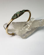 Load image into Gallery viewer, Marly Moretti Brass Cuff with Emerald Stones - Wanderlustre