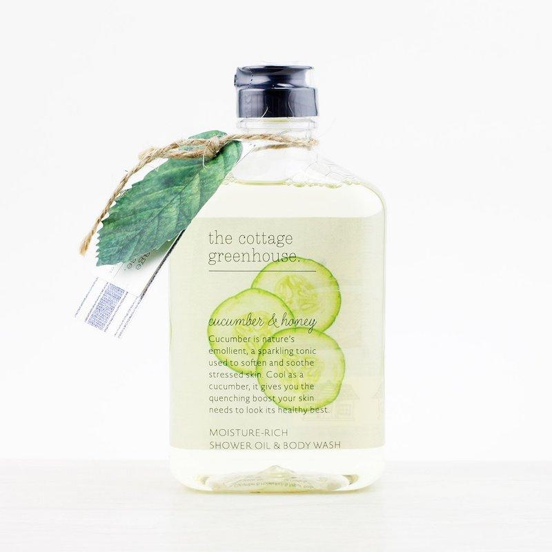 The Cottage Greenhouse Cucumber and Honey Rich and Repair Body Wash - Wanderlustre