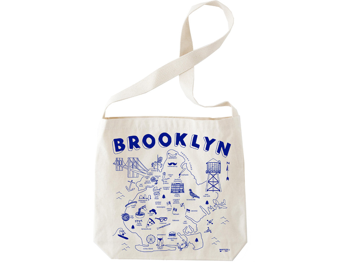 Maptote Brooklyn Natural Hobo Tote - Wanderlustre