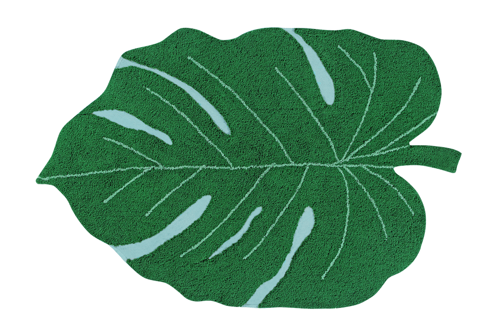 Monstera Leaf Washable Rug - Wanderlustre