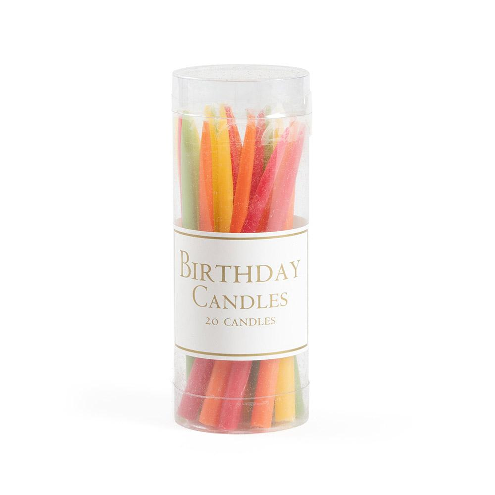 Birthday Candles in Tutti Frutti (pack of 20 candles)
