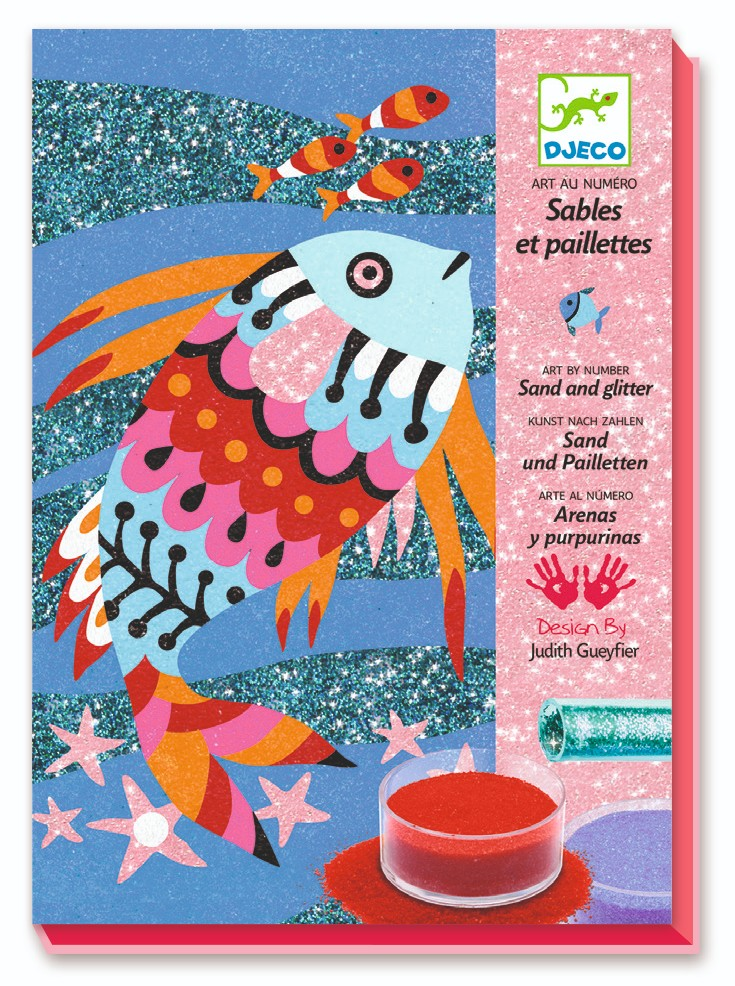 Sand and Glitter Rainbow Fish Art Kit by Djeco - Wanderlustre