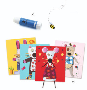 Cardboard Collages for Little Ones by Djeco - Wanderlustre
