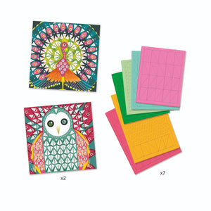 Coco Sticker Mosaic Kit by Djeco - Wanderlustre