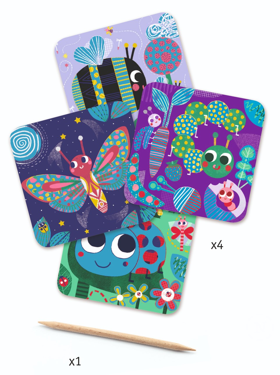 Bugs Scratch Cards by Djeco - Wanderlustre