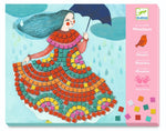 Load image into Gallery viewer, Party Dresses Sticker Mosaics by Djeco - Wanderlustre