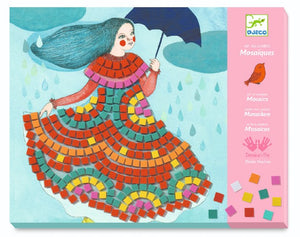 Party Dresses Sticker Mosaics by Djeco - Wanderlustre