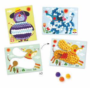 Pompom Puppies Collage Kit by Djeco