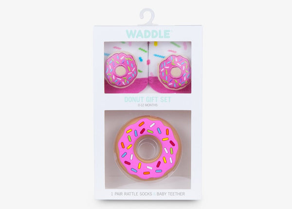 Donut Teether and Socks Gift Set