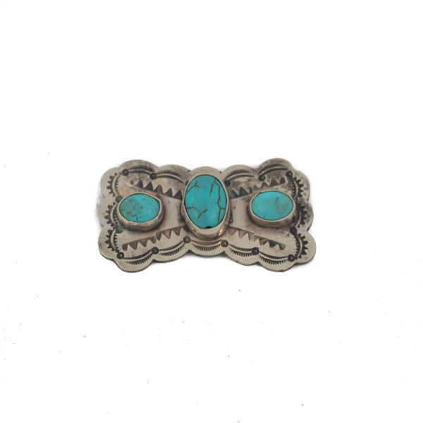 Mariposa Pin with Turquoise Inlay