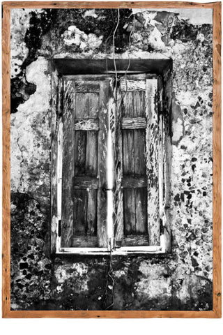 Window Crumbling Framed Photo Canvas by David Ballam