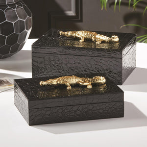 Alligator Box made with Vegan Leather - Wanderlustre