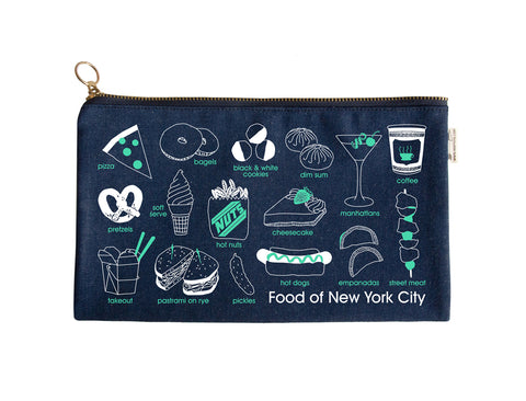 Maptote New York City Foodie Slim Pouch Denim