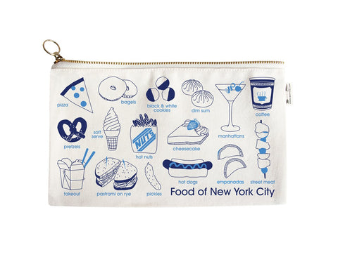 Maptote New York City Foodie Slim Pouch Natural