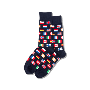 Men's Flags Crew Socks - Wanderlustre