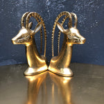 Load image into Gallery viewer, Vintage Brass Gazelle Bookends - Wanderlustre