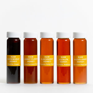 Jacobsen Co. Five Vial Raw Honey Set