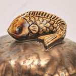 Load image into Gallery viewer, Bronze Decorative Box with Ceramic Animal - Wanderlustre