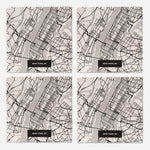 Load image into Gallery viewer, New York Modern Map Coasters - Set of 4 - Wanderlustre