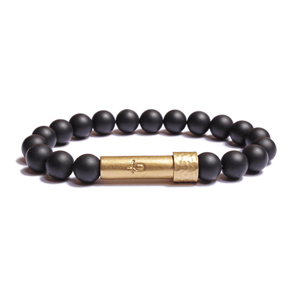 Wishbeads Protection + Healing Bracelet in Black Onyx