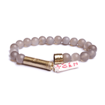Load image into Gallery viewer, Wishbeads Balance + Stability Bracelet in Grey Agate - Wanderlustre