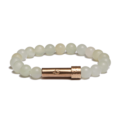 Wishbeads Wealth + Wisdom Bracelet in Light Jade