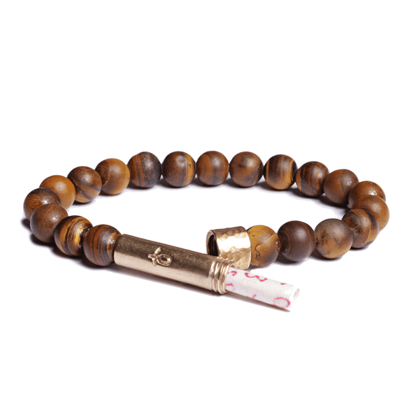 Wishbeads Confidence + Good Fortune Bracelet in Tiger Eye