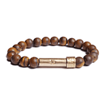 Load image into Gallery viewer, Wishbeads Tiger Eye Bracelet - Confidence + Good Fortune - Wanderlustre