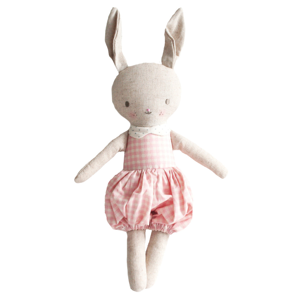 Rosie Romper Bunny, Pink and Cream - Wanderlustre