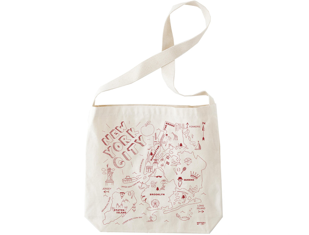 Maptote New York City Natural Hobo Tote - Wanderlustre