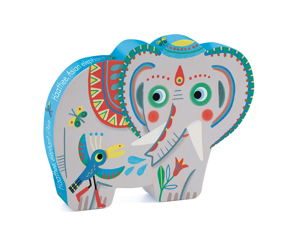 Haathee, Asian Elephant Silhouette Puzzle by Djeco - Wanderlustre