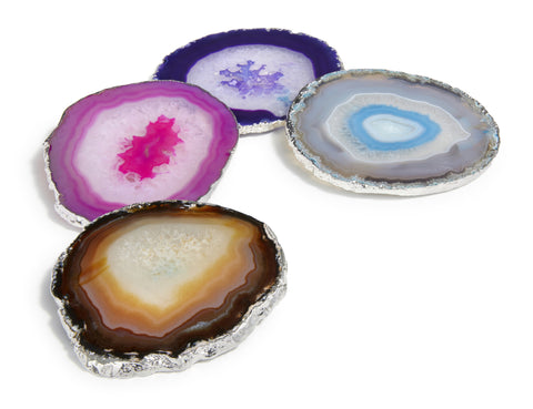 Lumino Gilded Agate Coasters by RABLABS