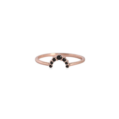 Leah Alexandra - Black Gold Rainbow Ring