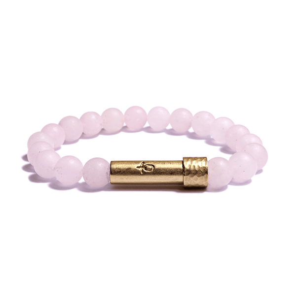 Wishbeads Love + Forgiveness Bracelet in Rose Quartz