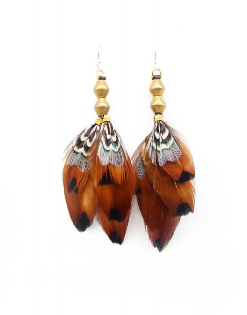 Short Antique Brass Earrings - Wanderlustre