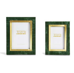 Green and Gold Photo Frames