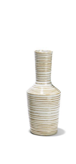 White and Grey Striped Vases