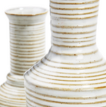 Load image into Gallery viewer, White and Grey Striped Vases